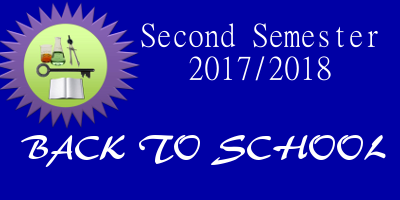 RESUMPTION DATE FOR SECOND SEMESTER 2017/2018 ACADEMIC SESSION